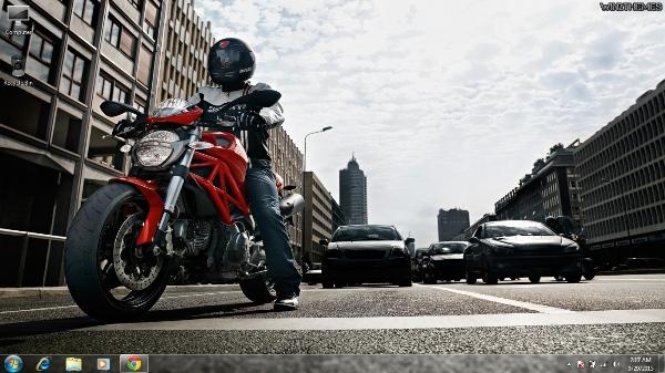 Ducati 2 City Lights  Best Windows 7 Themes