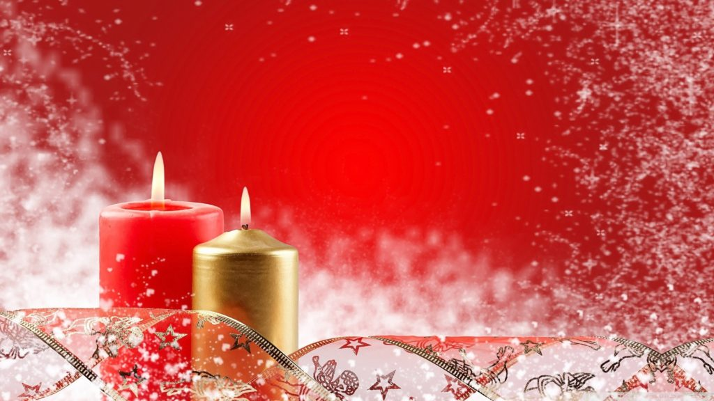 two_christmas_candles-wallpaper