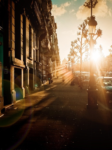 Sunset Cityscapes Streets
