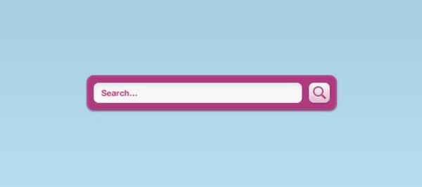 A Pink Vibrant Search Field Interface