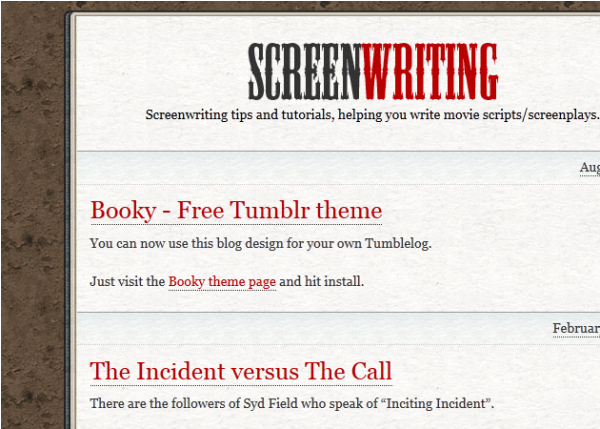 booky Best Free Tumblr Themes