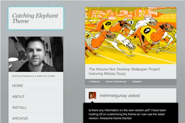 catching-elephant Best Free Tumblr Themes