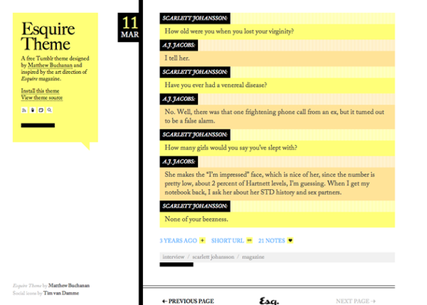 esquire Best Free Tumblr Themes