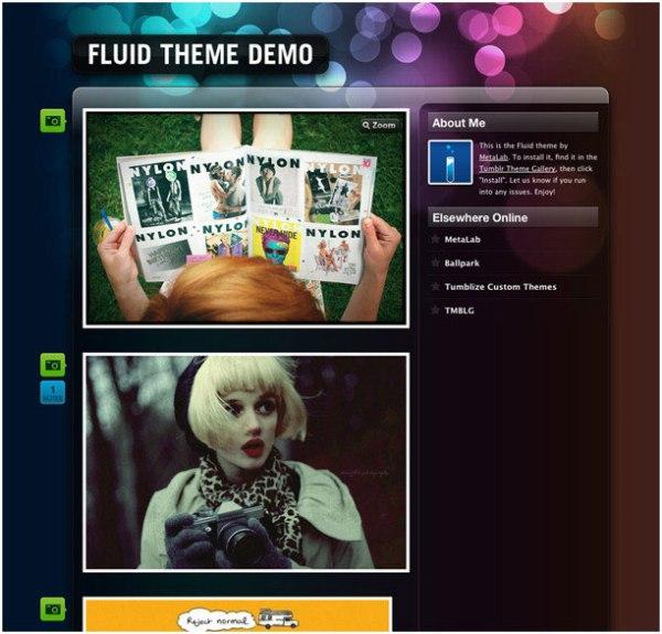 fluid Best Free Tumblr Themes