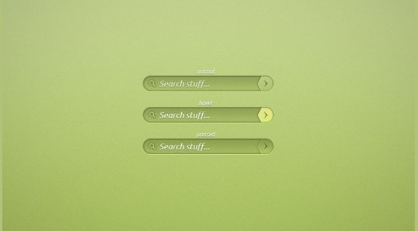 Green Search Bar : Search Box PSD Designs