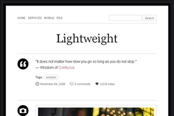 lightweight Best Free Tumblr Themes