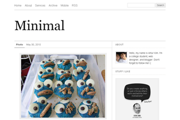 minimal Best Free Tumblr Themes