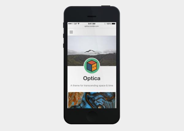 optica Best Free Tumblr Themes