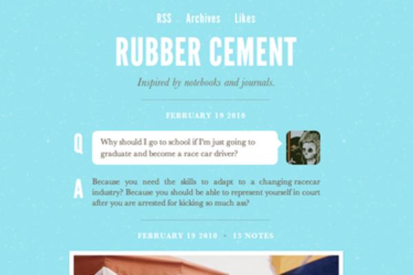 rubber-cement