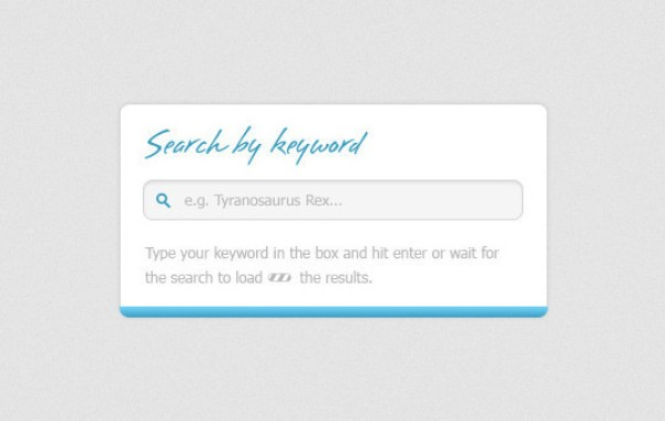 Search Box with autocomplete Free PSD