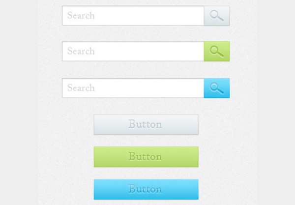Search Boxes and Buttons PSD File