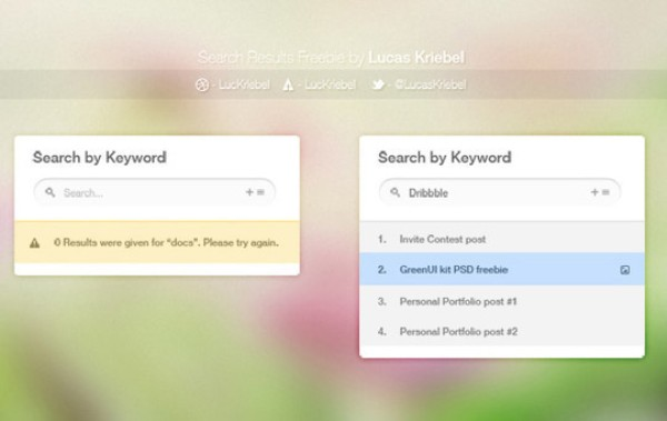 Search PSD Web Elements