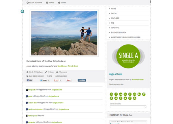 single-a Best Free Tumblr Themes
