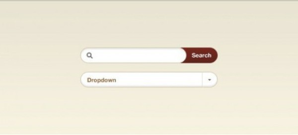 Stylish Web UI Search Field & Dropdown Button Se