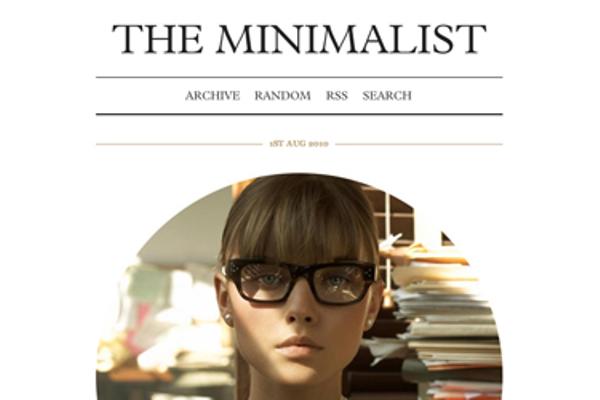 the-minimalist Best Free Tumblr Themes