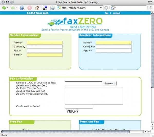 Fax Zero - Send a Free Fax Online