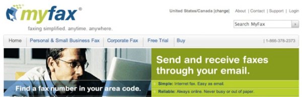MyFax Free online fax