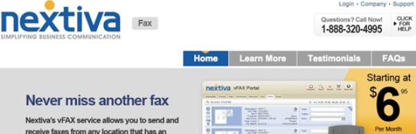 Nextiva online faxing service